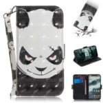 Light Spot Decor Patterned Wallet Stand PU Leather Case for Motorola One / P30 Play – Angry Panda