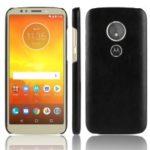 Litchi Texture PU Leather Coated Plastic Mobile Case for Motorola Moto E5 / G6 Play – Black
