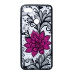Embossed Flower Pattern TPU + PC Combo Mobile Phone Case for Xiaomi Mi 8 Lite / Mi 8 Youth (Mi 8X) – Big Red Flower