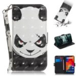 Patterned Wallet Stand PU Leather Flip Case for Xiaomi Redmi Note 6 Pro – Angry Panda
