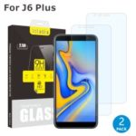 2Pcs/Set ITIETIE 2.5D 9H Tempered Glass Screen Protector for Samsung Galaxy J4+ / J6+