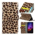 Leopard Pattern PU Leather Case with [Wallet Stand] for OnePlus 6T
