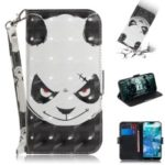 For Nokia 7.1 Patterned Leather Case [Wallet] [Stand] [Light Spot Decor] – Angry Panda