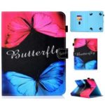 Pattern Printing Universal Leather Stand Case with Card Slots for 7-inch Tablet PC – Vivid Butterflies