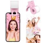 BENKS L24 Music Note Shaped Supplementary Selfie Lighting USB Rechargeable Selfie LED Camera Lamp Adjustable Desk Holder for Phones – Pink