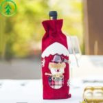Christmas Element Wine Bottle Holder Cover Gift Bag Home Party Decoration – Red