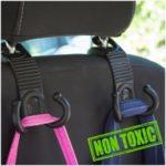 1 Pair Car Seat Back Bag Hooks Headrest Hanger Holder with Double Hooks