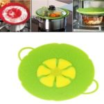 Spill Stopper Lid Cover Silicone Spill Stopper Pot Pan Lid, Size: 25 x 31cm – Green