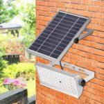 12W 65-LED Outdoor Solar Light 1500lm Radar Sensor Solar Flood Light IP65 Waterproof Wall Lamp