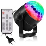 YOUOKLIGHT YK2278-NEW Sound Disco Lights with Remote Control Party Lighting Disco Ball Speaker Strobe Rotating Lamp – US Plug