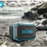 Bicycle Rugged Waterproof Bluetooth Speaker with Mic Support TF Card/Aux-in – Blue