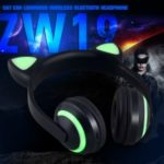 Cat Ear Pattern Luminous Bluetooth 4.2 Headphone Over-ear Headset with Microphone