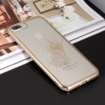 GIRLSCASE Electroplating Rhinestone TPU Case for iPhone 8 Plus / 7 Plus 5.5 inch – Feather