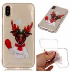 Christmas Pattern Printing TPU Jelly Mobile Case for iPhone XS Max 6.5 inch – Reindeer