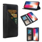 Flip Wallet Stand Leather Phone Case for iPhone XS / X 5.8 inch – Black