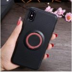IFACE MALL Finger Ring Kickstand TPU Case for iPhone XS/X (Built-in Magnetic Metal Sheet) – Red