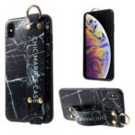 Marble Pattern Printing TPU Protective Case for iPhone XS Max 6.5 inch – Black