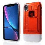 Ultra Thin Transparent Plastic + TPU Hybrid Phone Case for iPhone XR 6.1 inch – Red
