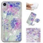 Liquid Glitter Powder Quicksand Pattern Printing Surface TPU Case for iPhone XR 6.1 inch – Dandelion