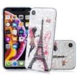 Embossed Pattern 3D Diamond Texture TPU Cell Phone Case for iPhone XR 6.1 inch – Eiffel Tower