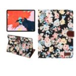 Flower Cloth Skin PU Leather Smart Case for iPad Pro 11-inch (2018) – Black