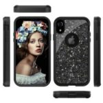 Glitter Powder Heavy Duty Rugged PC Silicone Hybrid Case for iPhone XR 6.1 inch – Black