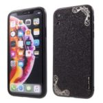 DLONS Lai Ya Series Glitter Powder PC and TPU Hybrid Case for iPhone XR 6.1 inch – Black