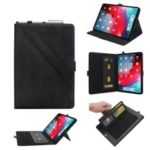 Multi-Slot Stand Leather Flip Tablet Case for iPad Pro 11-inch (2018) – Black