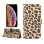 Leopard Pattern Wallet Stand Leather Phone Case for iPhone XS 5.8 inch – Brown