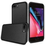 Kevlar Series Carbon Fiber Texture TPU Case for iPhone 8 Plus / 7 Plus 5.5 inch – Black