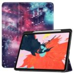 Pattern Printing Tri-fold Stand Leather Smart Cover for iPad Pro 12.9-inch (2018) – Galaxy