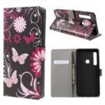 Patterned Wallet Leather Case for Samsung Galaxy A9 (2018) / A9 Star Pro / A9s – Butterfly Flower