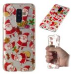 Christmas Pattern Printing TPU Jelly Mobile Case for Samsung Galaxy A6 Plus (2018) / A9 Star Lite – Santa Claus