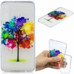 Pattern Printing Embossed TPU Cellphone Case for Samsung Galaxy A7 (2018) – Colorized Tree