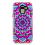 For Samsung Galaxy J6 (2018) PC TPU Back Case [Embossment Pattern] – Mandala Flower
