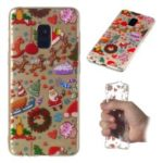 Christmas Pattern Printing TPU Jelly Mobile Case for Samsung Galaxy A8 (2018) – Christmas Elements