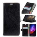 [Nappa Texture] PU Leather Stand Cell Phone Cover for Samsung Galaxy A7 (2018) A750 – Black