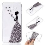 Pattern Printing TPU Cell Phone Case for Samsung Galaxy J4 Plus – Butterfly Girl