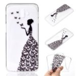 Pattern Printing TPU Protection Phone Case for Samsung Galaxy J6 Plus – Butterfly Girl