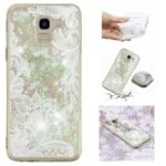 Embossed Pattern Quicksand TPU Case for Samsung Galaxy J6 (2018) – Lace Flower Pattern