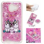 For Samsung Galaxy J4 (2018) Embossing Pattern Quicksand TPU Phone Case – Sweet Unicorns