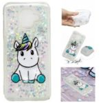 For Samsung Galaxy A6 (2018) Embossment Pattern Quicksand TPU Case – Adorable Unicorn