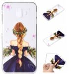 Embossed Pattern TPU Phone Case for Samsung Galaxy J6 Plus / J6 Prime / J610 – Charming Girl