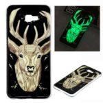 Pattern Printing Noctilucent IMD TPU Case for Samsung Galaxy J4+ – Elk Pattern