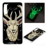 Luminous Glow Pattern Printing TPU Case for Samsung Galaxy A7 (2018) A750 – Elk Pattern