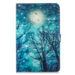 Pattern Printing Leather Wallet Tablet Case with Stand for Samsung Galaxy Tab A 10.5 (2018) T590 T595 – Sky and Tree