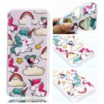 Pattern Printing Soft TPU Cell Phone Case for Samsung Galaxy J6+ J610 / J6 Prime – Unicorn