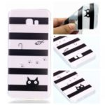 Pattern Printing TPU Soft Phone Casing for Samsung Galaxy J4+ J415 / J4 Prime – Fish and Cat