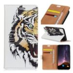Pattern Printing PU Leather Card Holder Protection Shell for Samsung Galaxy A6s – Fierce Tiger
