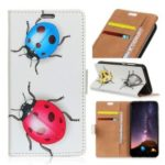 Pattern Printing PU Leather Card Holder Protection Case for Samsung Galaxy A6s – Colorful Ladybirds